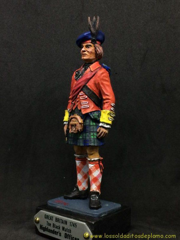 eko-almirall Oficial Británico de 1745 de los Higlander´s Black Watch.-3