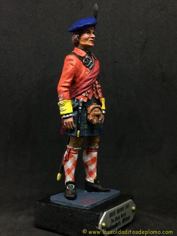 eko-almirall Oficial Británico de 1745 de los Higlander´s Black Watch.-9