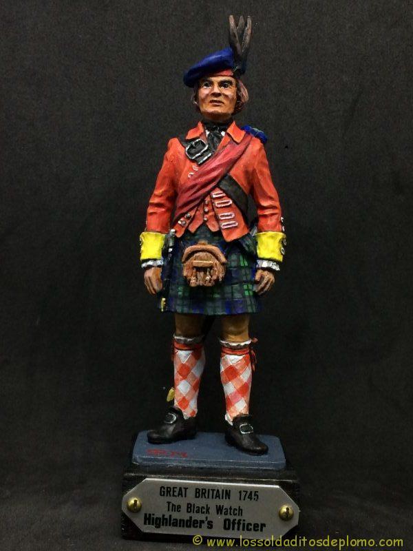 eko-almirall Oficial Británico de 1745 de los Higlander´s Black Watch.-1