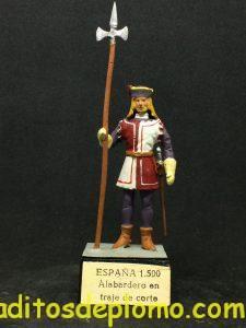 Guardias Reales Españolas: Alabardero en traje de corte 1.500