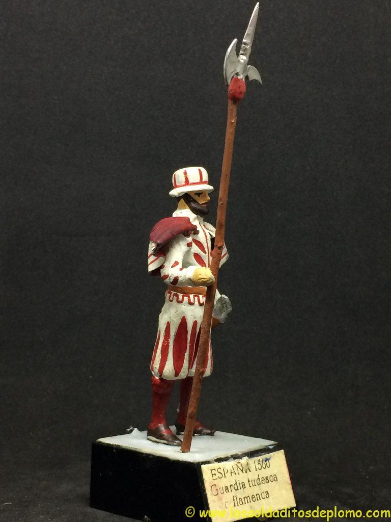 soldado de plomo 54mm Guardias Reales Españolas: Guardia Tudesca Flamenca 1.560
