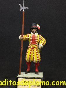soldadito de plomo Guardias Reales Españolas: Guardia Española 1.619