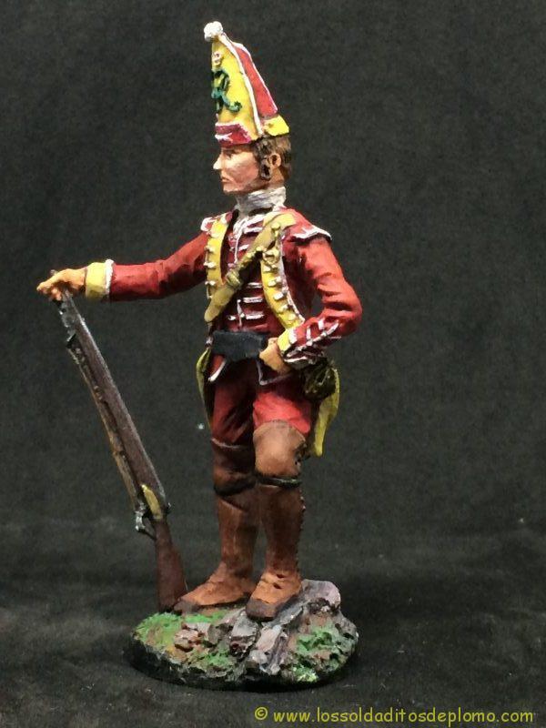 Alymer soldado de plomo 54mm Grenadier 37 th Foot 1759