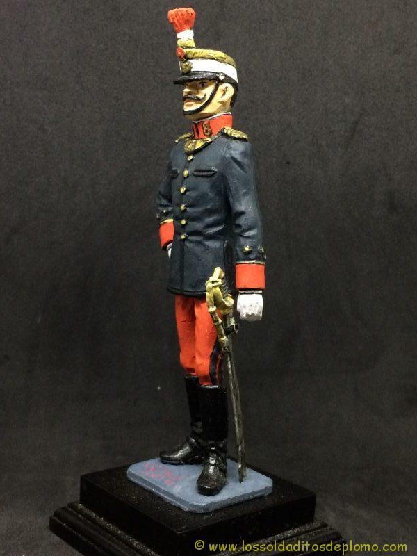 eko-almiral lead soldier Oficial de Infantería,1910 -3