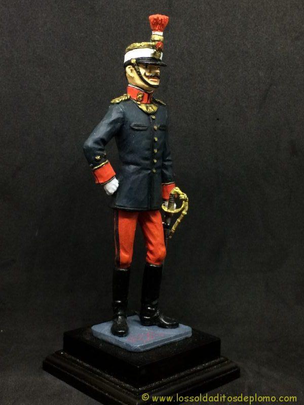 eko-almiral lead soldier Oficial de Infantería,1910 -9
