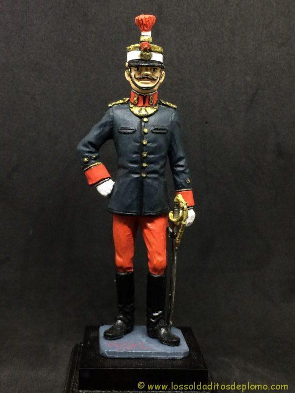eko-almiral lead soldier Oficial de Infantería,1910 -1