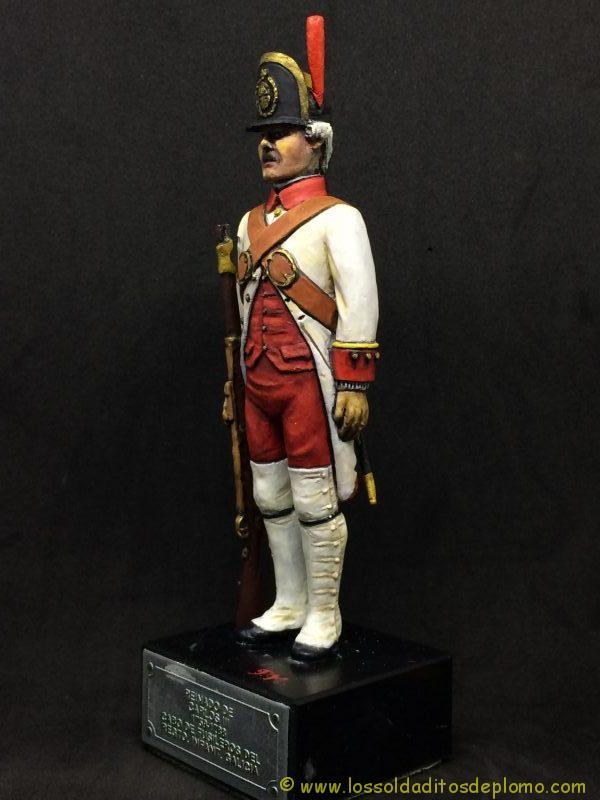 El Ejercito de Carlos III: Cabo Fusileros Rgto. Infantería Galicia, 1759-1788-3