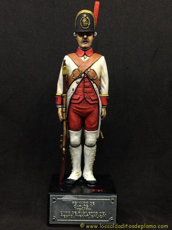 El Ejercito de Carlos III: Cabo Fusileros Rgto. Infantería Galicia, 1759-1788-1