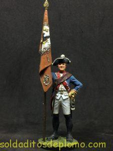 super alymer Abanderado del Rgtº de Inf. nº 11, Prusia 1745