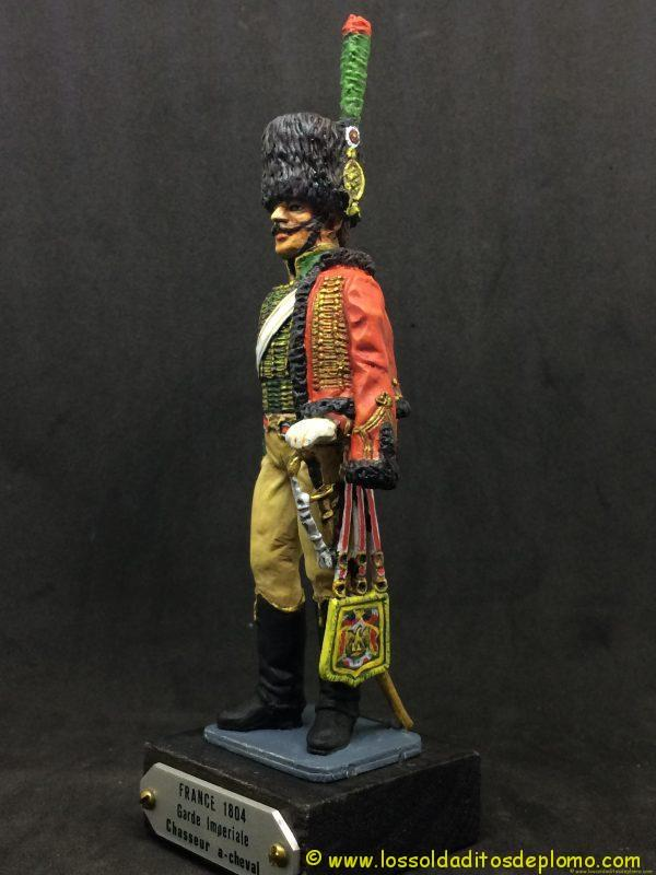 figura de plomo eko 90 mm garde imperiale chasseur a chaval 1804-3