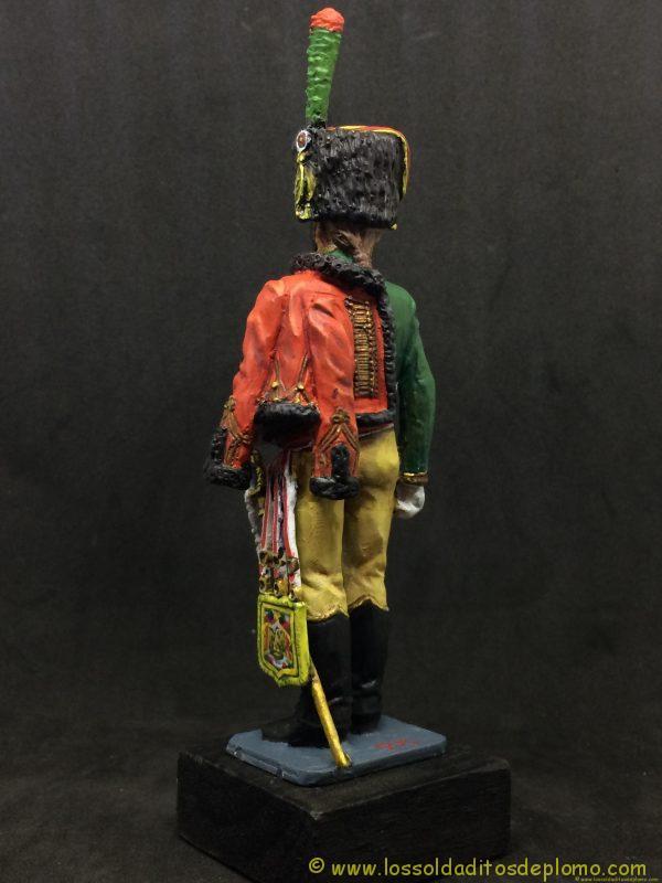 figura de plomo eko 90 mm garde imperiale chasseur a chaval 1804-5