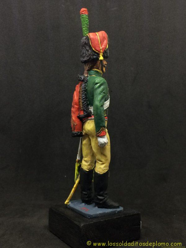 figura de plomo eko 90 mm garde imperiale chasseur a chaval 1804-7