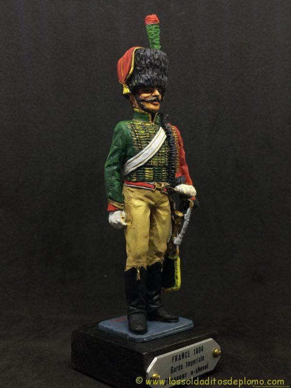 figura de plomo eko 90 mm garde imperiale chasseur a chaval 1804-9
