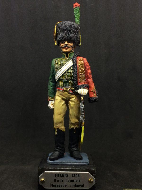 figura de plomo eko 90 mm garde imperiale chasseur a chaval 1804-1