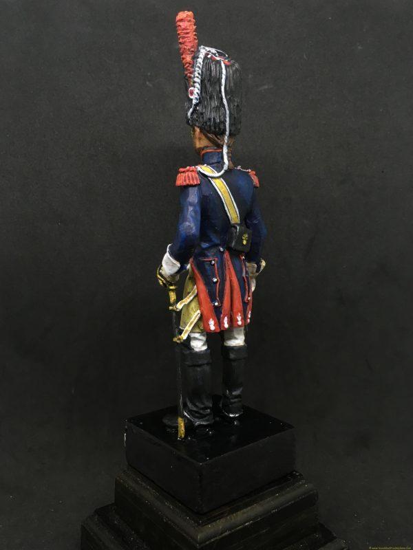 Soldado de plomo 90mm EKO ALMIRALL Carabinero francia 1810-4