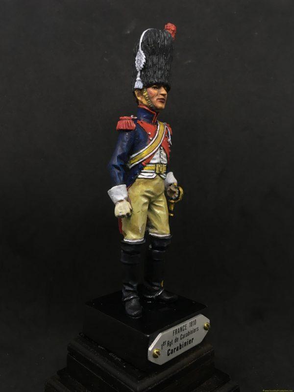 Soldado de plomo 90mm EKO ALMIRALL Carabinero francia 1810-8