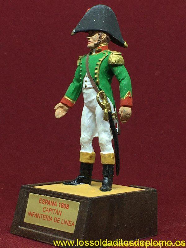Marca Soldat. Capitán Infantería de Línea España 1808-2
