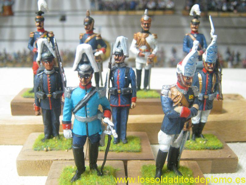Imperial German Army 1900's. Bases marked GTM ROSE ( I cannot find any records of this company,castings appear to be a mixture of Stadden&Rose)
