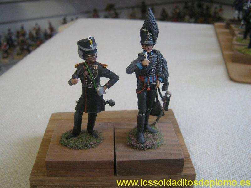 Officers ,Lutzen Freicorps and Black Brunwickers,1815 by Valiant Miniatures,USA
