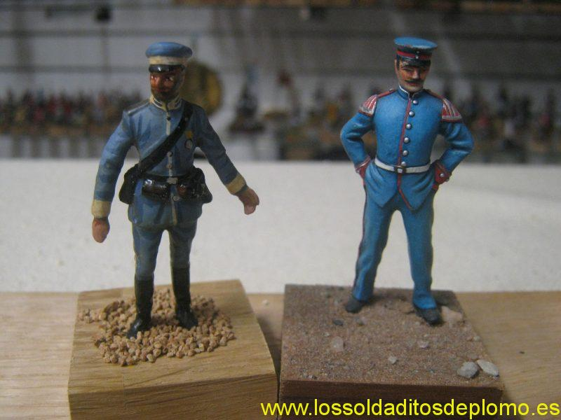 Officers,Saxony and Bayern Regiments 1900's by Hecker and Goros