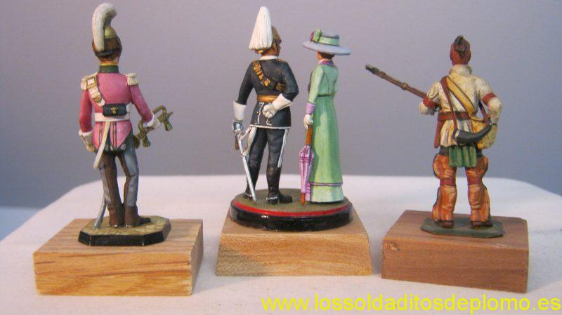 Rose-Cheveau-Leger .Ensign-6th Dragoon Guards 1905,Lasset -Woodland Indian.These are painted by Jean Abell ,who has a distinctive paint