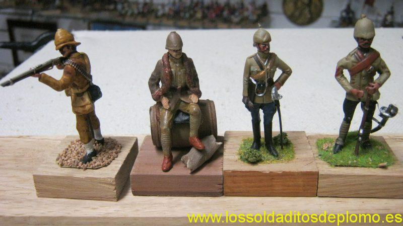 Afghan War-Trooper by Lasset,Trooper by Mountford,Officer Hussars by Ensign.Officer Cavalry by Lasset