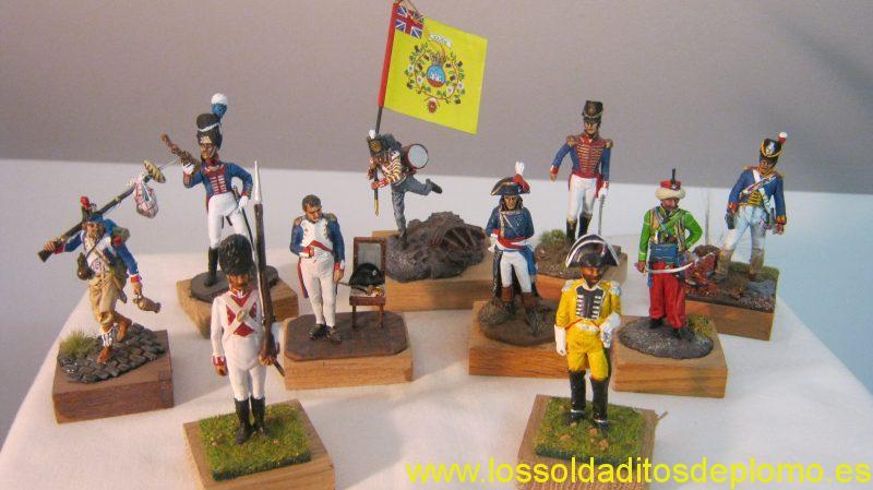 Andrea-Bavarian Grenadier,1815.Drummer Boy 1812.Royal Artillery ,Officer and Gunner 1810.French,Egypt 1798.Napoleon Tulleries 1812& Egy