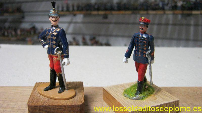 Austrian Officers by Vienna Metal Figures & Fusilier Miniatures