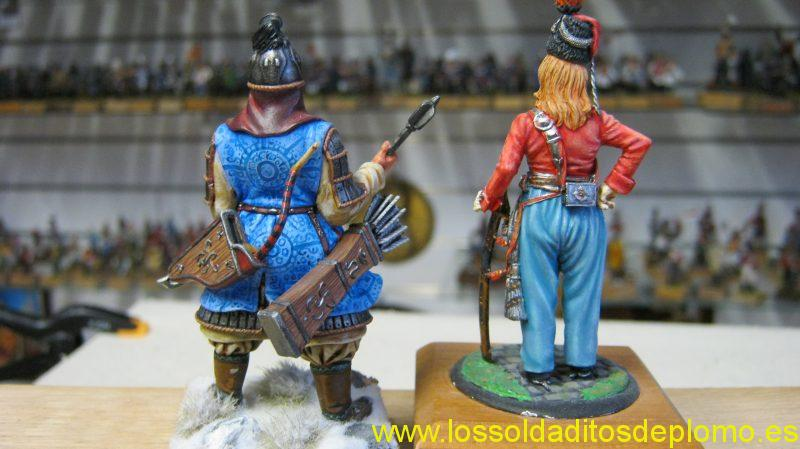Batu Khan Mongol 1240,by Poste Militaire and Guard Cossack 1809 by Durendal-b