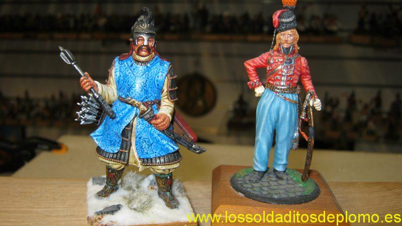 Batu Khan Mongol 1240,by Poste Militaire and Guard Cossack 1809 by Durendal