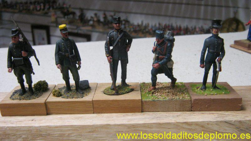 Belgian Infantry 1914 by Metal Modeles.Officer Austro-Hungary by Hecker and Goros. Swedish Infantry 1900 by Tradition.Serbian Infantry