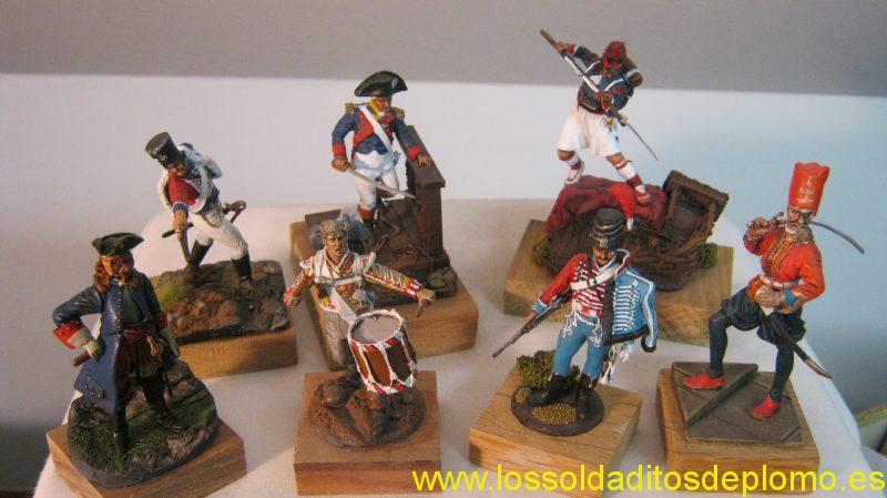 Beneito-Prussian Hussar,1806.Officer Toulon,1793.Sagunto,1811.English Artillery,1709.Salamanca,1812.Maria Luisa Hussar 1808.Nizam Guard