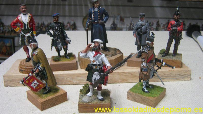 Black Watch,Mess Dress,1936.Greenock Rifle Volunteer,1890. Aberdeen Police,1867. Edinburgh Rifle Volunteer.Kinross Rifle Volunteer,1880