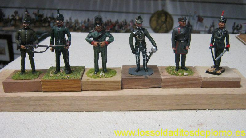 British Rifle Brigades1900's- 1 and 2 Stadden,Kings Rifles by Ensign,Cameron Highlander by Stadden.Gordon Highlander by Ensign,Rifle Br