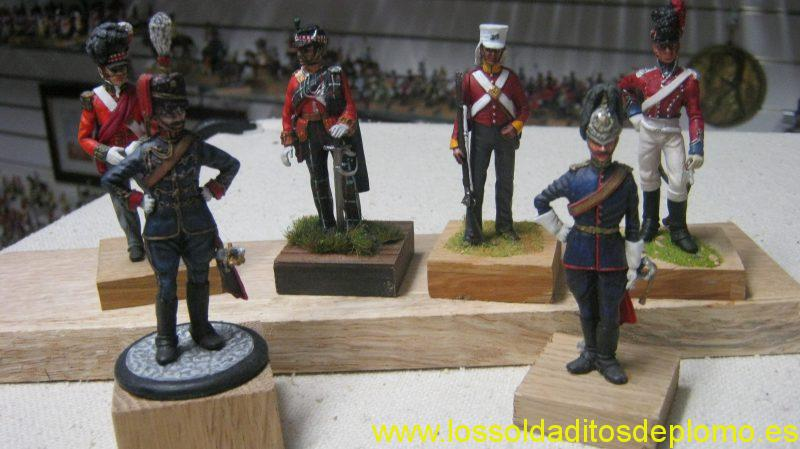 Clydecast 70mm -Black Watch 1815, Highland Light Infantry 1914,29th.Foot Sikh War 1845,East Lothian Yeomanry 1805,Ayrshire Yeomanry 189