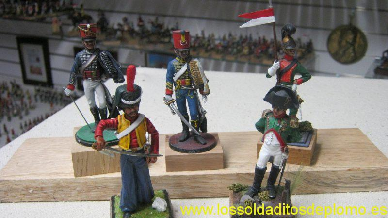 Clydecast 70mm-French Hussars,Dragoon,Lithuanian Tartar,Napoleon 1815.