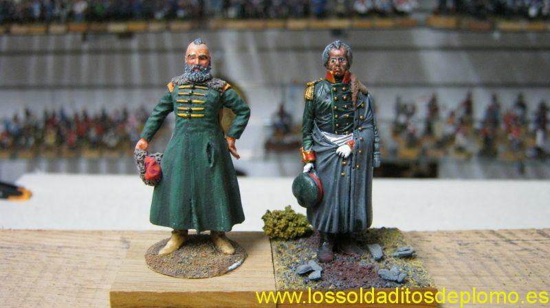 Cossack and Kutuzov 1812 by Pete Barnacle(Border Miniatures)