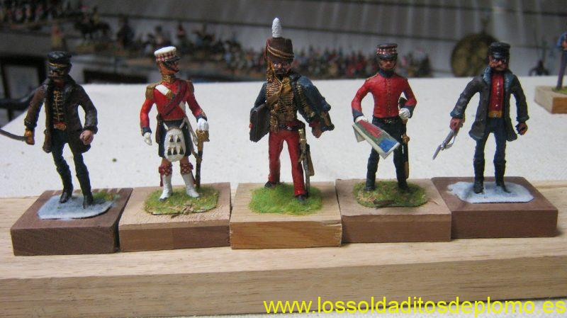Crimea 1854 Officer Hussars, Colour Sargeant Black Watch,Lord Cardigan,NCO Black Watch,Officer 44th Foot by Hinton Hunt