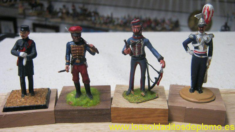 Crimea 1854-Staff Officer by Old Guard,11th.Hussars by Trophy Miniatures,Hussar stable Ddess by Barry Minot.17th.Lancers by Chota Sahib