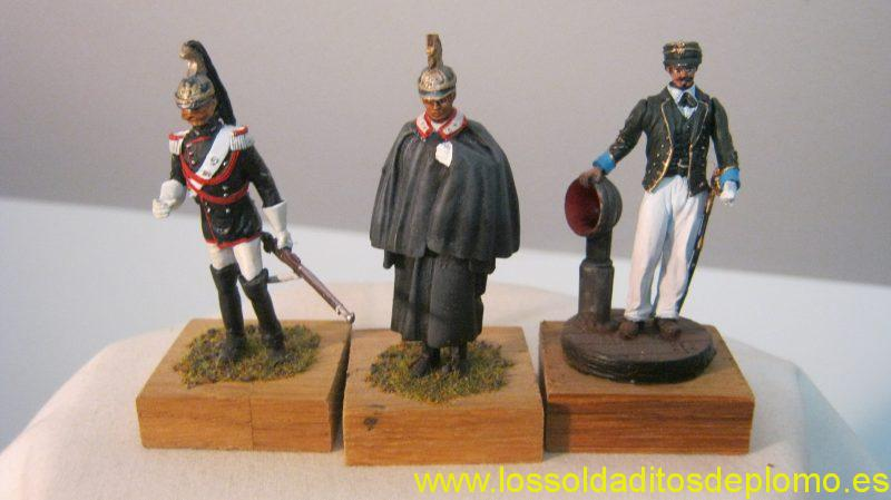 Cuirassier and Carabinieri by Parade (Russia).Customs Officer 1861 by MMA