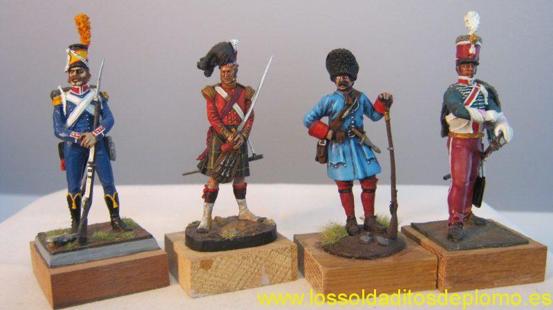 DW International-24th.Light Infantry,Italy 1796.Latorre-Cameron Highlander,Crimea 1854.Glory-Bavarian Grenadier,1704.MMA-Hussar,Kingdom