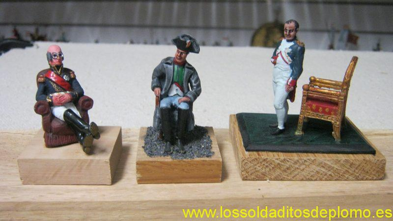 Davout by Tradition,Napoleon by Phoenix and Napoleon at Tulierres by Brecia Miniatures