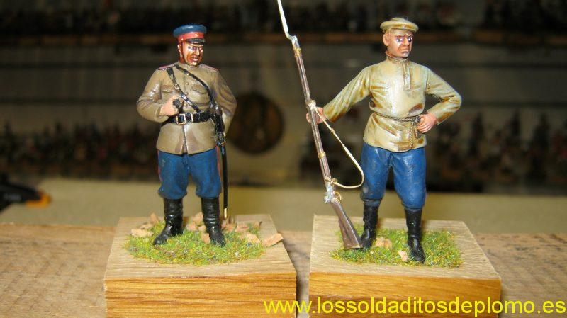 Don Cossack 1940 by Roco Miniatures and Russian Infantry 1914 by Hecker and Goros