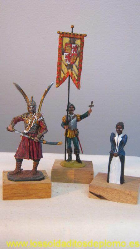 EK Castings-.Polish Winged Hussar, Beneito-Vasco Nunez de Balboa,1513. Sanderson -Negress,1860