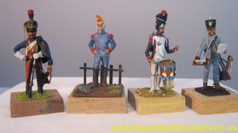 Ensign-Two French Hussars 1806 and 1815. Barry Minot-Old Guard,Hussar 1815