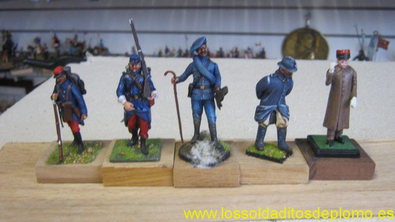 French Army 1914-18,2 Infantry by Metal Modeles,Chasseur Alpin by Le Cimier,Infantry by Series1897,Petain by Alymer