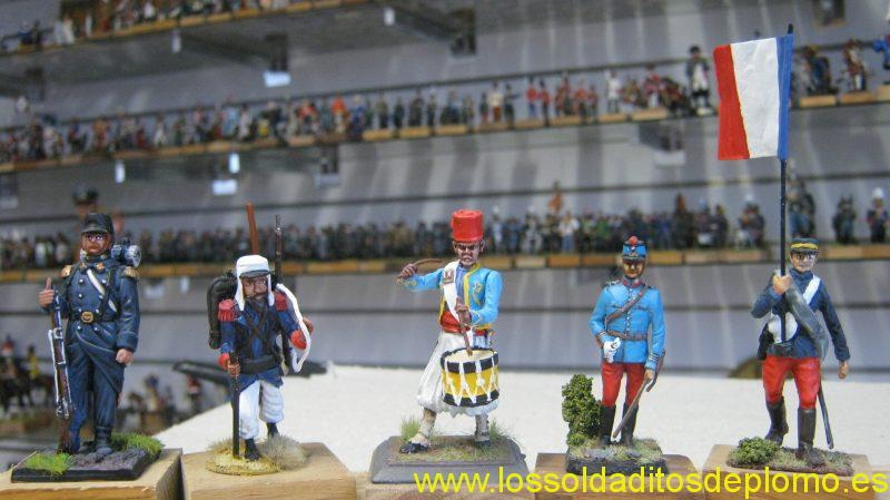 French Army Second Empire-Royal Guard,Kingdom of Naples,1860 by Ares,Legionaire and Trailleur by Vanot,Officer by Ro