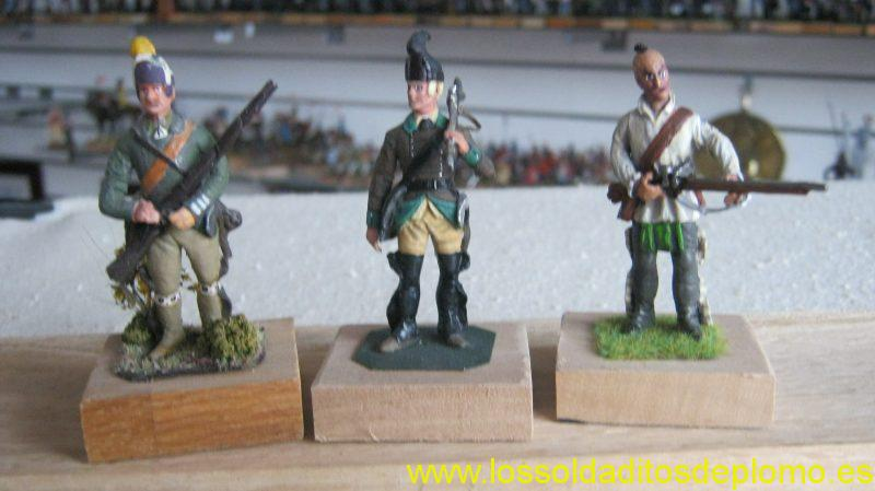 French Indian Wars 1759-Rogers Rangers and Woodland Indian from Lasset Range