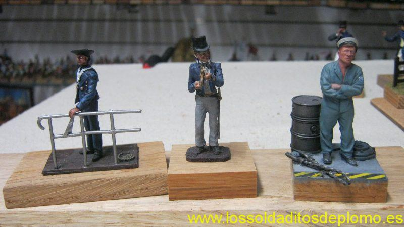 French Marin 1870 by Vanot,Midshipman 1840 by Valiant,Coxswain 1942 by Ensign