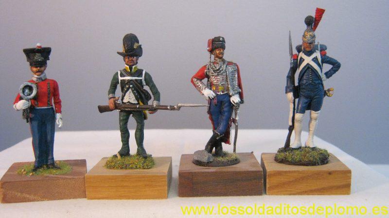 Grifo(Italy)-Muscian,Duchy of Lucca 1841.Imrie Risley-Swedish Guard,1806.Border Miniatures-Hussar.Corpus-Sapeur du Genie ,1812